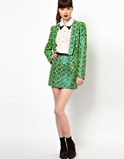 Sister Jane Mini Skirt in Metallic Neon Tweed
