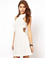 Glamorous A Line Mini Dress with Cut Out