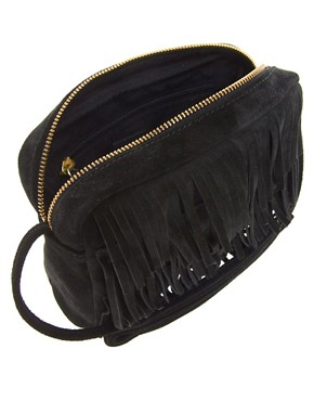 Image 4 ofASOS Suede Fringe Across Body Bag