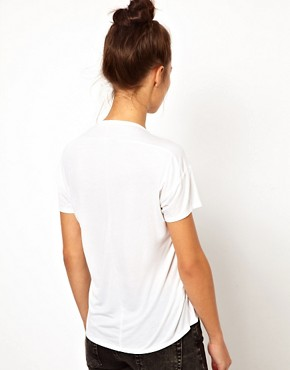Image 2 ofWH100 by Won Hundred Abbie Short T-Shirt with Pocket and Draped Back