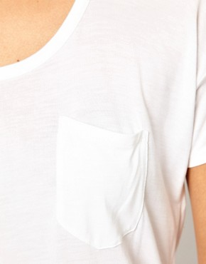 Image 3 ofWH100 by Won Hundred Abbie Short T-Shirt with Pocket and Draped Back