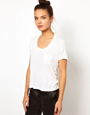 Image 1 ofWH100 by Won Hundred Abbie Short T-Shirt with Pocket and Draped Back