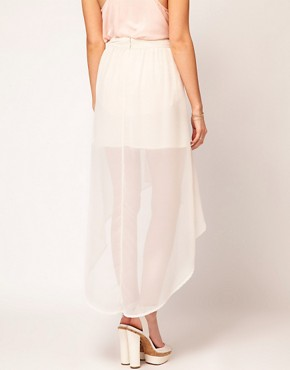 Image 2 ofOasis Chiffon Hem Skirt