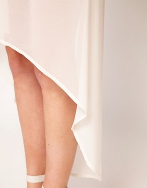 Image 3 ofOasis Chiffon Hem Skirt
