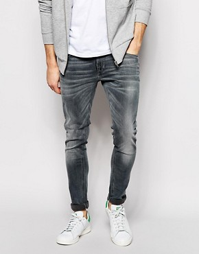 Nudie Jeans Skinny Lin Stretch Fit Back To Grey