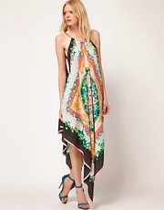 MSGM Maxi Dress with Chain Halter