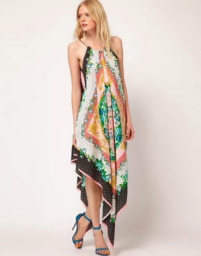 Image 1 ofMSGM Maxi Dress with Chain Halter