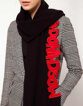 Image 2 ofMoschino Cheap &amp; Chic Writing Scarf
