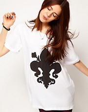 ASOS T-Shirt with Fleur De Lis Print