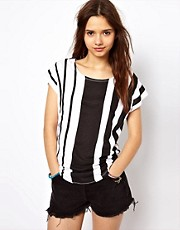 River Island Vertical Stripe Tee