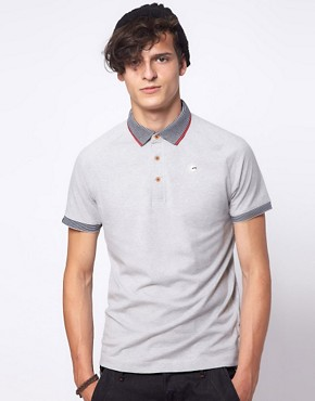 Image 1 ofG Star Kyoto Striped Collar Polo Shirt