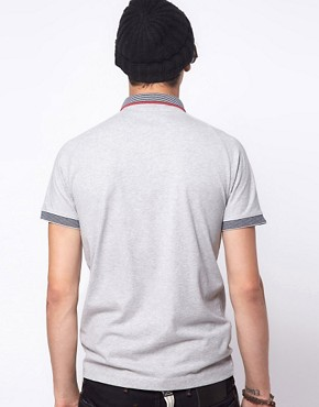 Image 2 ofG Star Kyoto Striped Collar Polo Shirt
