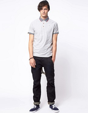 Image 4 ofG Star Kyoto Striped Collar Polo Shirt