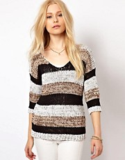 River Island Stripe Tape Jumper