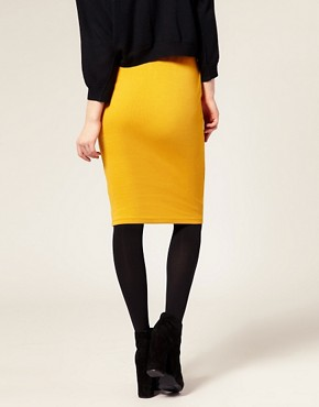 Image 2 ofASOS Ribbed Jersey Pencil Skirt