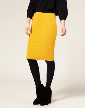 Image 4 ofASOS Ribbed Jersey Pencil Skirt