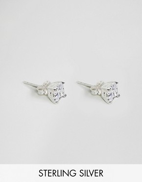 ASOS Sterling Silver Crystal Stud Earrings