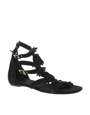 Image 1 ofASOS FRAN Suede Tassel Sandal