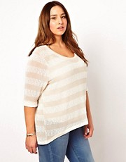 New Look Inspire Lurex Stripe Sweater