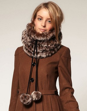 Image 1 ofASOS Leopard Fantasy Fur Snood