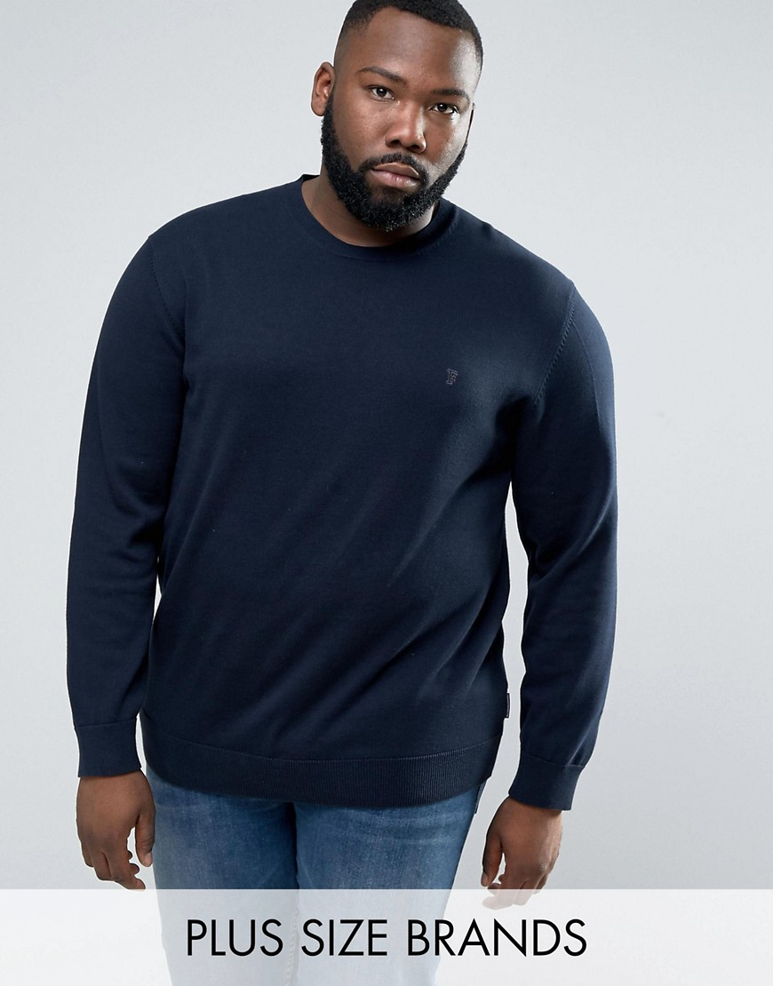 French Connection PLUS Crew Neck Knitted Jumper - Navy