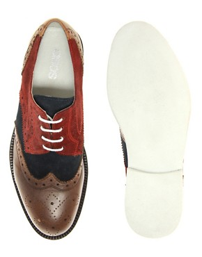 Image 3 ofASOS Suede Brogues With Micro Sole