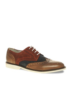Image 1 ofASOS Suede Brogues With Micro Sole