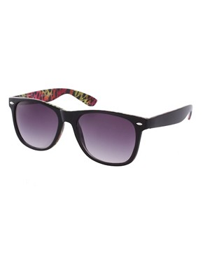 Image 1 ofASOS Internal Leopard Print Sunglasses