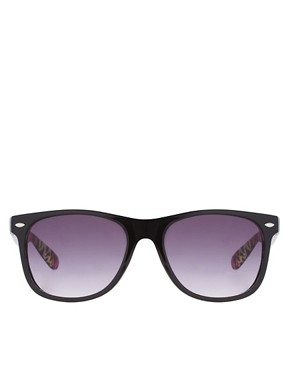 Image 2 ofASOS Internal Leopard Print Sunglasses