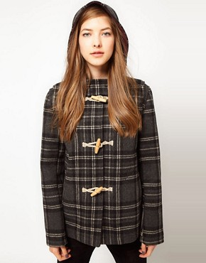 Image 1 ofFred Perry Checked Duffle Coat