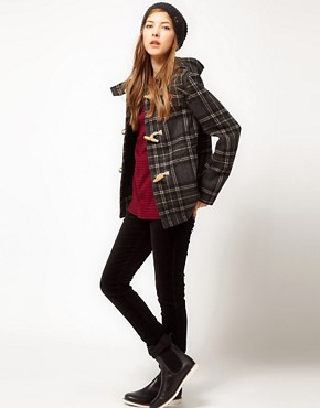 Image 4 ofFred Perry Checked Duffle Coat