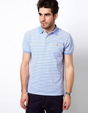 Polo Ralph Lauren Polo Shirt In Pale Blue And White Stripe