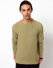 Barbour Jumper with Pique Knit