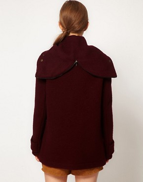 Image 2 ofGloverall Heritage Duffle Coat with Split Hood