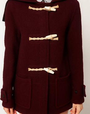Image 3 ofGloverall Heritage Duffle Coat with Split Hood