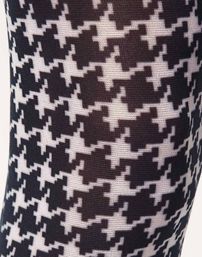 Image 2 ofASOS Large Dogtooth Print Tights