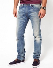Diesel - Thavar 0806P - Jeans slim con lavaggio chiaro