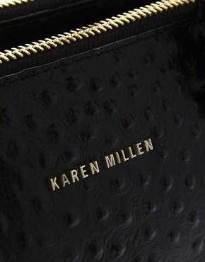 Image 4 ofKaren Millen Signature Leather Ostrich Small Bag