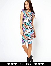 Vero Moda Graffiti Cap Sleeve Dress