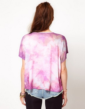 Image 2 of WkShp Crop T Shirt In Cosmic Print