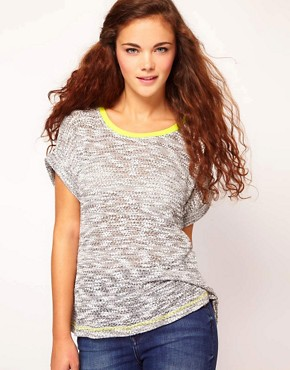 Image 1 of River Island Contrast Trim T-Shirt