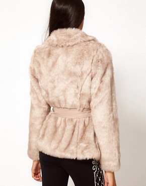Image 2 ofLipsy Belted Faux Fur Jacket
