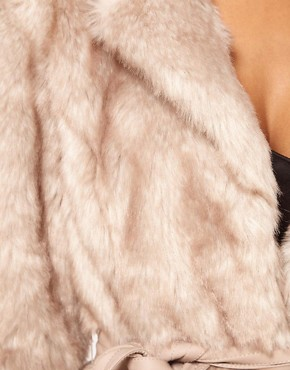 Image 3 ofLipsy Belted Faux Fur Jacket