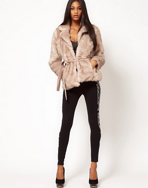 Image 4 ofLipsy Belted Faux Fur Jacket