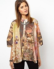 Diesel Printed Oversized Shirt