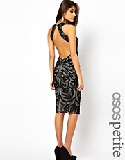 ASOS PETITE Midi Dress With Beaded Embroidery