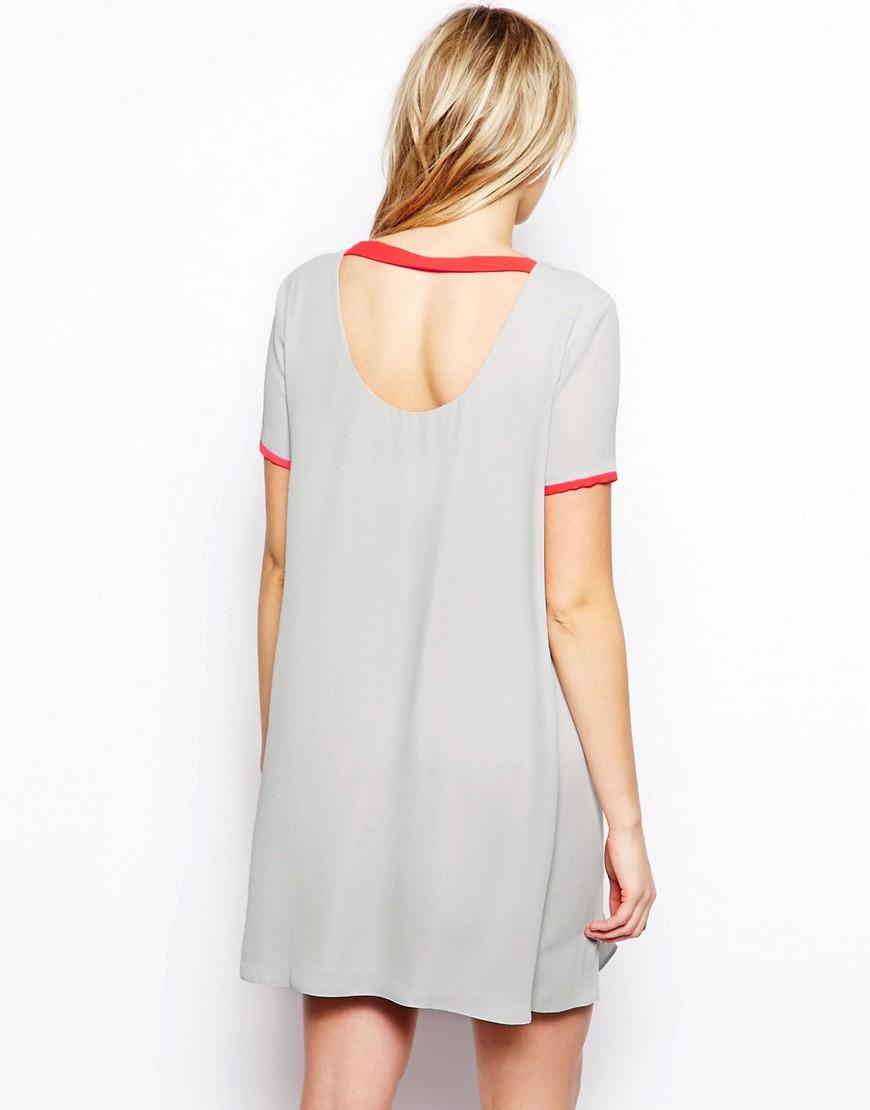 Image 2 ofASOS Maternity Shift Dress With Fluro layer