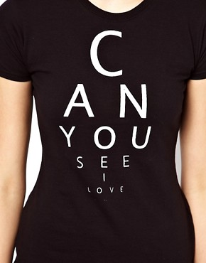 Image 3 of Illustrated People Eye Test T-Shirt