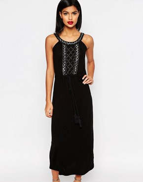 French Connection Goldie Stone Strappy Maxi Dress