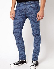 ASOS Super Skinny Jeans In Camo Print